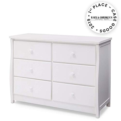 Great Features Of Delta Children Clermont 6 Drawer Dresser, Bianca White