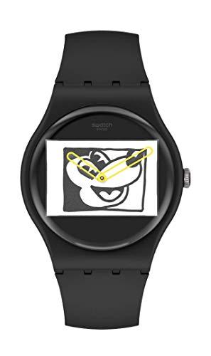 Swatch Correa definida de cuarzo, negro, reloj casual 20 (Modelo: SUOZ337)