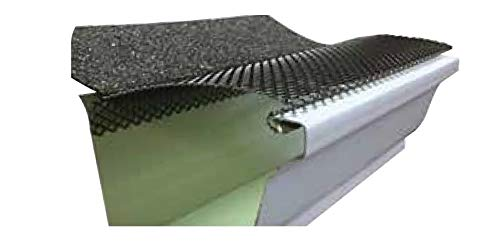 (100 feet) Ultra Flo Leaf Guard Gutter Protector for 5' K-Style Gutters. Regular Hole Step-Down. 25...