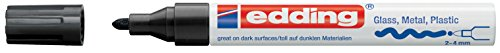 Edding 4-750-9-001 Glanz-Lack-Marker, Breite Rundspitze schwarz
