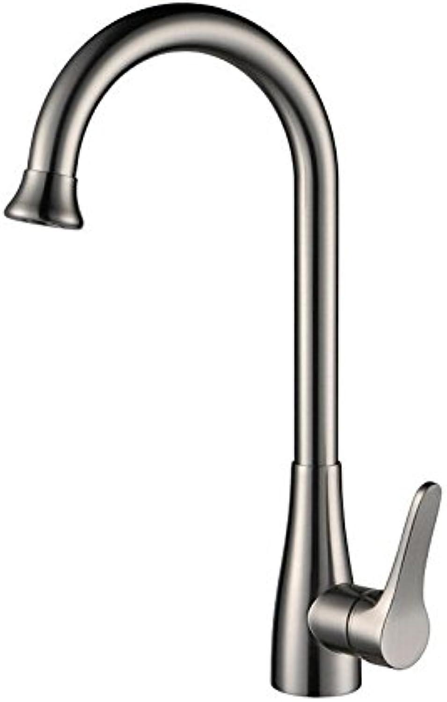 YAWEDA Drahtziehen voller Farbe Kupfer Küche Teller Waschbecken kalt warmes Wasser Faucet Kitchen Sink Faucet Antike klassische Wasserhahn