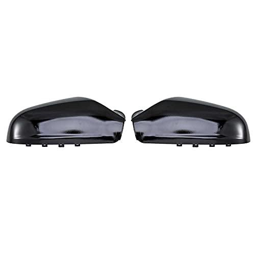 MIOAHD Un par de Cubiertas de Espejo retrovisor Negro Brillante, Apto para Opel Astra H 2004 2005 2006 2007 2008 2009 Tapas de Espejo retrovisor Accesorios de Coche