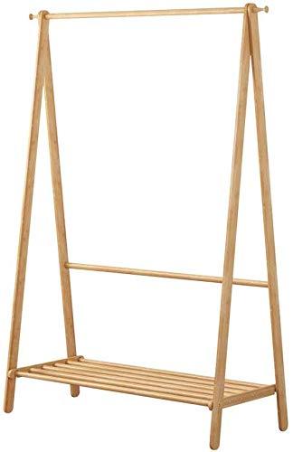 YLCJ kledingrek van bamboe, met garderobe, om op te hangen (maat: 160 & 75 cm)