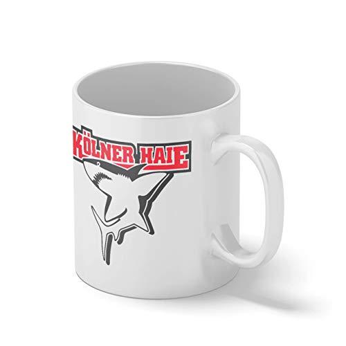 Kolner Haie Eishockey Mannschaft Teamgeschenk Weißer Becher Mug | Lustige Neuheit Tassen für Kaffee Tee 312ml
