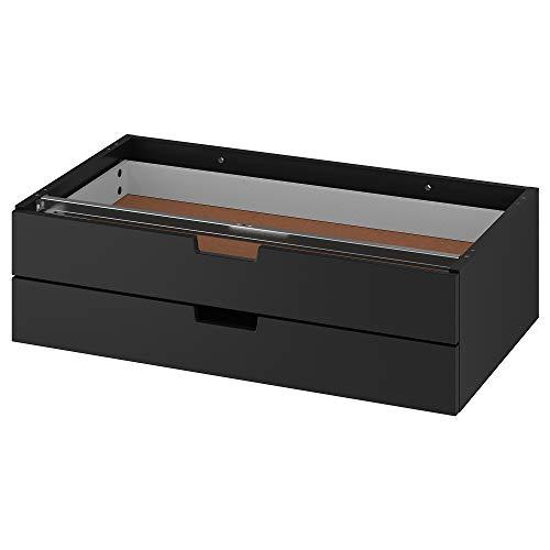 IKEA NORDLI cassettiera modulare 2 cassetti 2 cassetti antracite