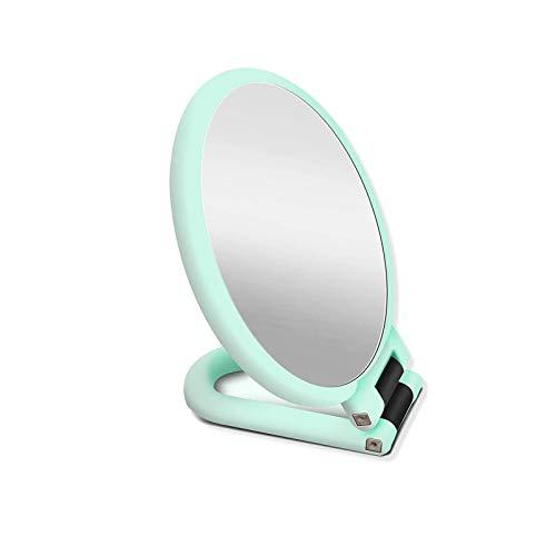 Samine Miroir de poche grossissant pliable double face sur pied Vert