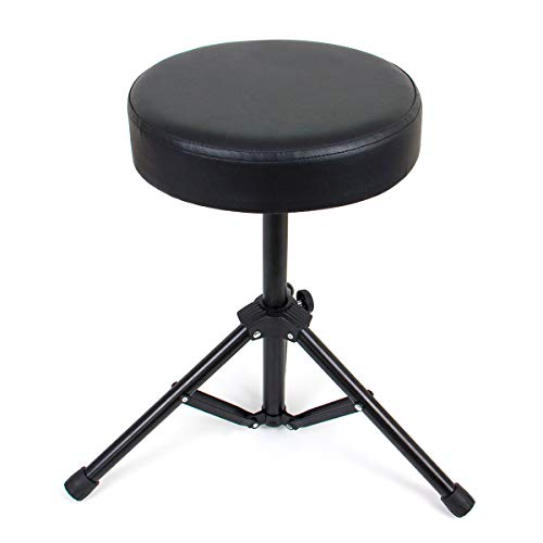 Kmise Drum Throne Stool Deluxe Thick Padded Foldable Seat for Drum Practice