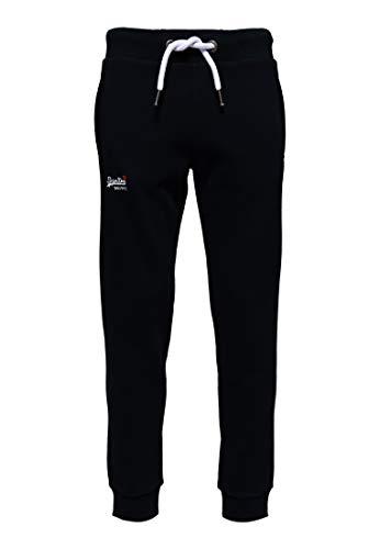 Superdry Herren T-Shirt Sporthose ORANGE LABEL JOGGER Volltonfarbe, Blau (Eclipse Navy 98T), 2XL (Herstellergröße: 38)