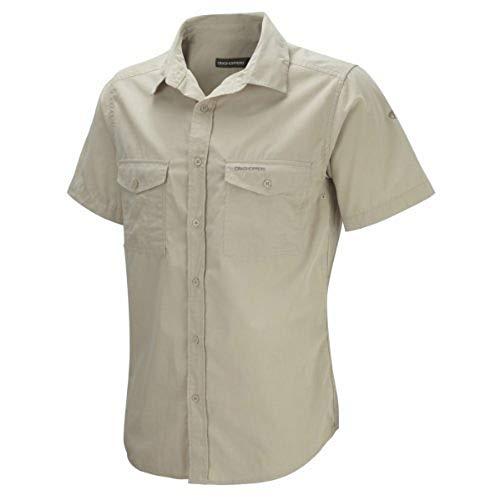 Craghoppers Herren Outdoor Reise Hemd Outdoor Reise Kiwi Kurzarm Hemd, Beige (Oatmeal), Gr. 56 (Herstellergröße: XL)