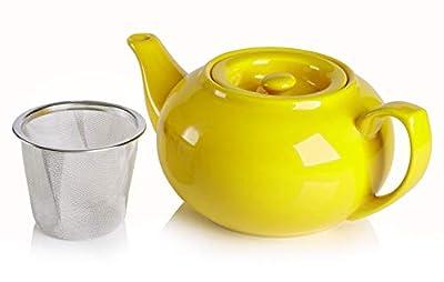 Adagio Teas PersonaliTEA Ceramic Teapot, 24-ounce, daffodil