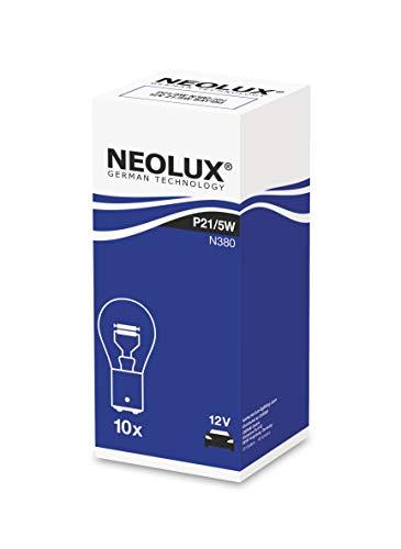 Neolux Standard P21/5W Signallampe Auto Motorrad N380 12V 21/5W (10 Stück), BAY15D, Folding Box Bulbs