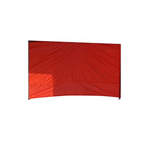 Zacha Cenador Lateral Panel Anti-UV Reutilizable Viento Exterior Tienda Plegable SY Uso Oxford Paño Duradero Impermeable Portátil Accesorios Lateral (1Red) - Rojo, 1