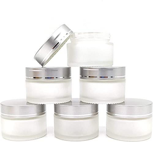 GOOODBUY Tarro de cristal cosmético de 30 ml con tapa redonda vacía...