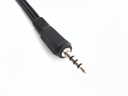 zdyCGTime Noir 3,5 mm Prise mâle vers 3 RCA Femelle Adaptateur Câble Audio vidéo