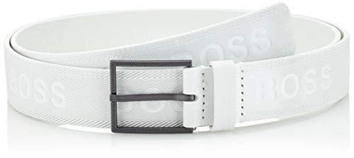 BOSS Tril-Logo_sz35 Cinturón, Blanco (White 100), 125 (Talla del fabricante: 110) para Hombre