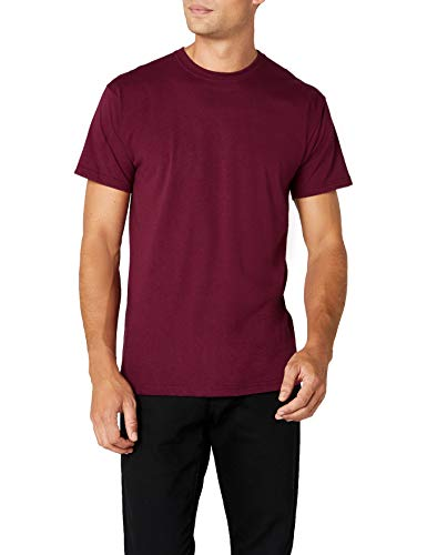 Fruit of the Loom Herren Premium Tee Single T-Shirt, Rot (Burgundy), (Herstellergröße: Large)