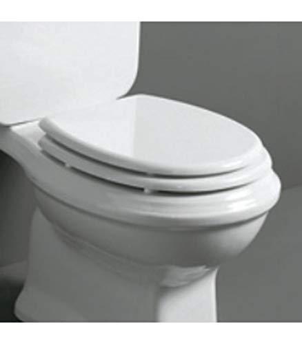 Simas 3420101 Sedile per WC, Serie Arcade in Resina Termoindurente, Bianco