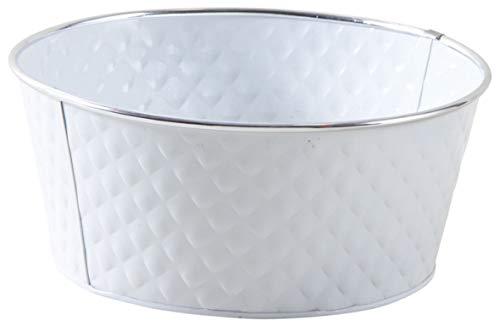 AUBRY GASPARD Corbeille Ronde en métal laqué Blanc