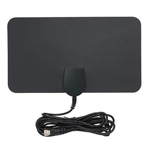 Docooler Indoor Digitale TV Antenne HD Signaal Flat Panel UHF FM HDTV Antenne Signaal Ontvanger Zwart