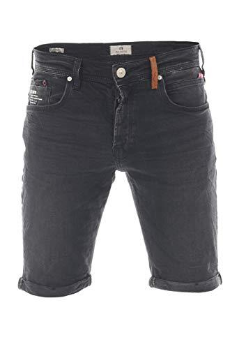 LTB Corvin - Pantalones cortos para hombre (algodón, cortos, tallas S, M, L, XL, XXL, 3XL, 4XL, 5XL), color azul oscuro y negro Page Wash (52226). XL