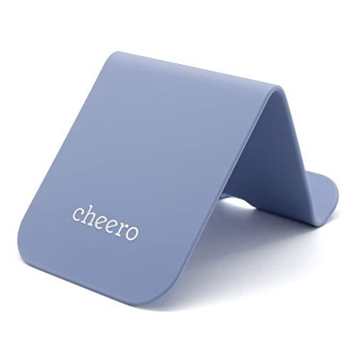cheero CLIP Plus 万能 クリップ ボード シリコン スマホスタンド タブレットスタンド CHE-330 ブルー
