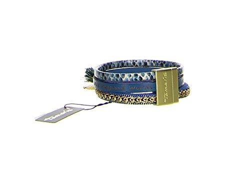 TAMARIS C04031240 Lederarmband PERU Leder blau gold Magnetverschluss