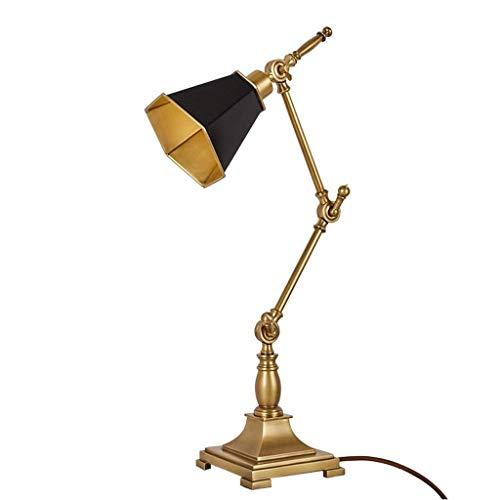 Lámpara de Mesa Salón Grande Café Sala de Estudio de Protección Eye la tabla de la lámpara de cobre del Norte antiguo trabajo creativo