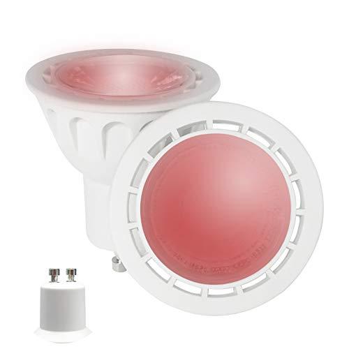 YAYZA! 8er-Pack Premium MR16 GU10 6W Netz AC LED-Punktstrahler COB Glühbirne 60 Grad breiter Lichtstrah Lampe Farbe Rot