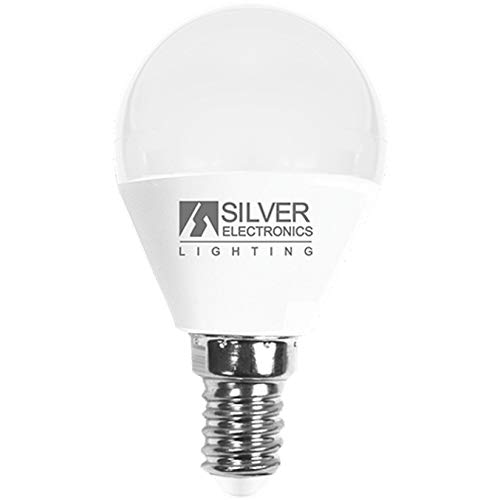Silver Electronics Bombilla LED 5000K E14, 7 W, Blanco, 3 x 4.5 x 8.1 cm