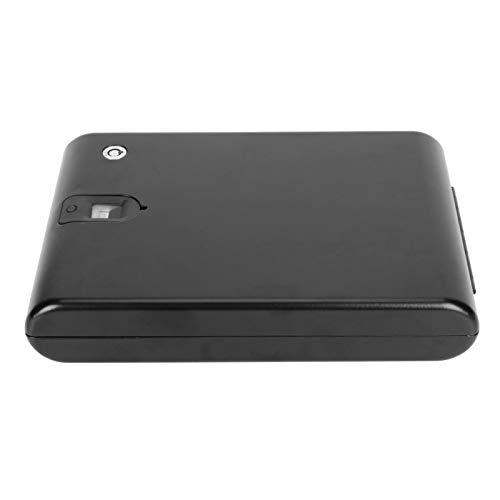 Caja de seguridad inteligente, caja de seguridad biométrica para huellas dactilares, caja de seguridad para automóvil con llave, caja de almacenamiento portátil para joyas(325 * 190 * 50(mm))