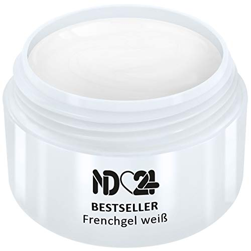 5ml - BESTSELLER - FRENCH-GEL white weiß - UV Nagelgel - Made in Germany