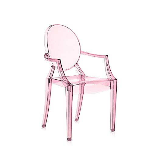 Kartell Ghost Chaise Lou, Rose Transparent