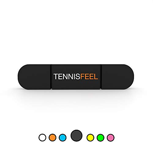Tennis Feel Clipme • Premium Vibrationsdämpfer • Dämpfer sitzt fest am Tennisschläger • 1er-Pack (Schwarz)