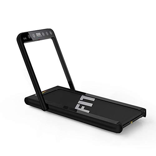 Fitifito ST500 Edles Laufband Profilaufband mit Touchscreen - 1.0-15 km/h - Bluetooth - Fernbedienung - komplett klappbar und verstaubar - Handy-/Tablethalter anthrazit