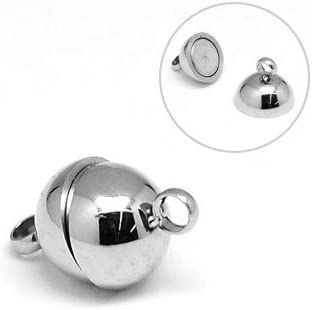 Wholesale Stainless Steel Magnetic Clasp Max security 40% OFF Silver 1 12mm Round 8 x