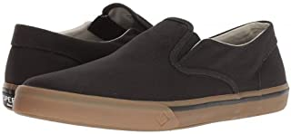 Sperry(スペリー) メンズ 男性用 シューズ 靴 スニーカー 運動靴 Striper II Twin Gore - Black Canvas/Gum [並行輸入品]