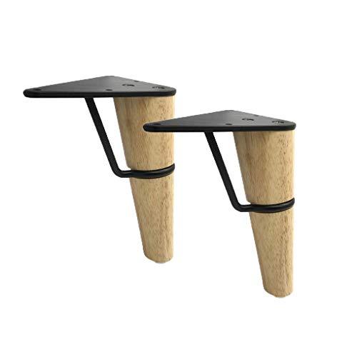 AT 2 Piezas Sólidas de Madera de Repuesto Cónica de Muebles Piernas Pies Triángulo Brace Mesa de Madera Patas de Los Muebles para Sofá Cama Silla Gabinete Couch Pies Patas de Los Muebles de M