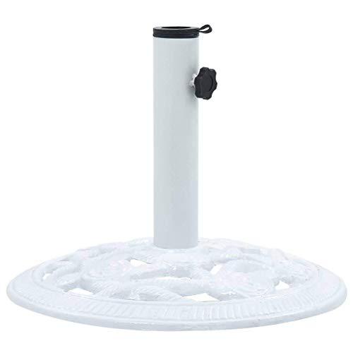 Regenschirmbasis, Sonnenschirmbasis im Freien Regenschirmhalter Weiß 9 kg 40 cm Gusseisen