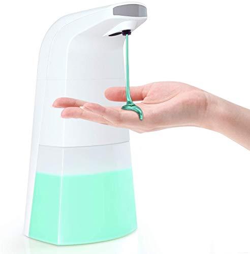 Dispensador automático de jabón líquido de 310 ml, dispensador inteligente sin contacto con sensor de movimiento infrarrojo, manos libres para baño, cocina, sala de estar, puerta