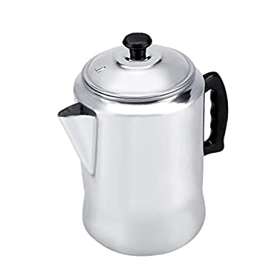 3L Percolator Coffee Maker Pot, Aluminum Coffee Pots Coffee Percolator Stovetop with Lid for Home Travel Camping Cafetera
