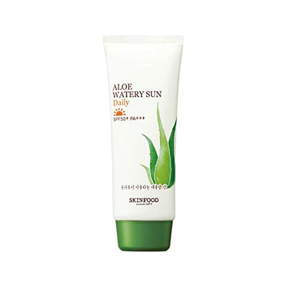 受付命題密Skinfood アロエウォーターサンデイリーSPF50 + PA +++ / Aloe Watery Sun Daily SPF50+ PA+++ 100ml [並行輸入品]