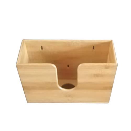 Papierhandtuchspender, Wand-Papierhandtuchspender aus Bambus für Schlafzimmer Badezimmer Küche Wohnzimmer 29 * 11,5 * 19 cm Holzfarbe
