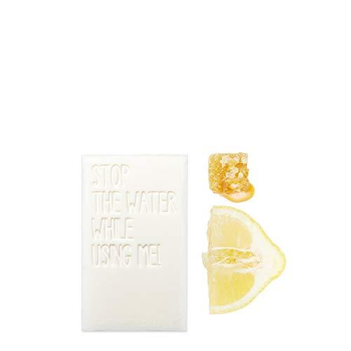 STOP THE WATER WHILE USING ME! Jabón de barra de limón All Natural (125 g), vegano, cosmética natural con aroma fresco de limón y miel.