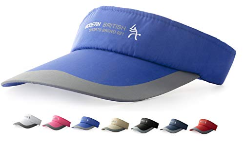 HYSENM HYSENM Visor Baumwolle Einheitsgröße Unisex Cap mit Klettverschluss Einstellbar Anti-UV für Reisen Radsport Tinnesspielen Kappe, Blau