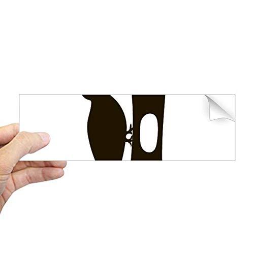 DIYthinker zwart specht dier portret rechthoek bumper sticker notitieboekje sticker