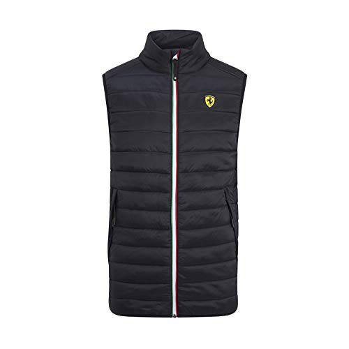 Branded Sports Merchandising B.V. Scuderia Ferrari F1 - Chaleco negro para hombre - 130191013-100-S, L, Negro