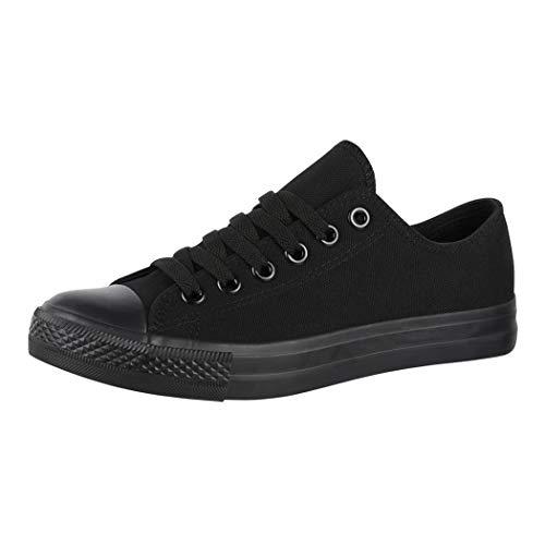 Elara Unisex Sneaker Low top Turnschuh Textil Chunkyrayan 36-46 A-YD3230-Allblack-39
