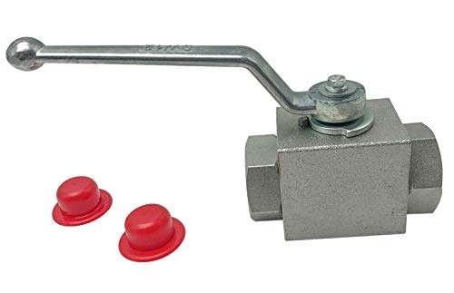 Hydraulic High Pressure Shut-Off Ball Valve 2 Way 3/4 Inch NPT 4568 PSI KHB Hydraulic Valve