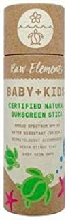 Raw Elements Baby + Kids SPF 30 Organic Sunscreen Lotion Stick Non-Nano Zinc Oxide, Reef-Safe, Cruelty-Free, Gentle and Moisturizing, Zero Waste Tube, 1oz