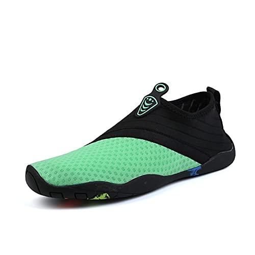 Zapatos De Agua, Zapatos De Agua Descalzos, Zapatos De Playa para Mujeres Y Hombres, Zapatos De Agua De Secado Rápido para Paseos En Bote En La Playa, Pesca, Yoga, Surf (39 (EU 39 2/3),Green)